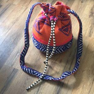 Zara Aztec inspired drawstring bag